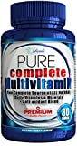 Daily Multivitamin For Adults + Antioxidant All Natural Sourced Vitamins Not Synthetic Like Many Multivitamins - Best Vital Minerals Supplement for Men & Women Plus Increase Energy For Workout