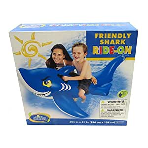 Buy Intex Giant Shark Friendly Inflatable Swimming Pool Ride On Raft 56567ep Online At Low