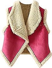 Pupik Girls Lightweight Soft Warm Quilted Sherpa Vest Pink  Red Outerwear