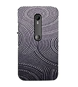 PrintVisa Spiral Art Pattern 3D Hard Polycarbonate Designer Back Case Cover for Motorola Moto G3