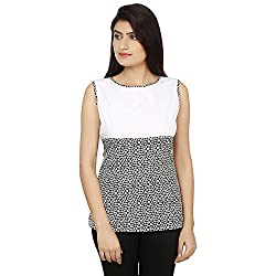 Bhama Couture White & Black Casual Top