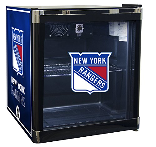 NHL New York Rangers Refrigerated Beverage Cooler, 1.8 cu. ft., Black Graphic (Refrigerated Ice Chest compare prices)