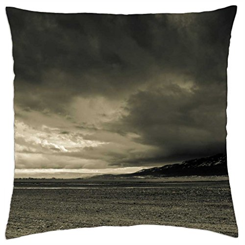 """Ominous Clouds - Throw Pillow Cover Case (18"""" x 18"""")"""