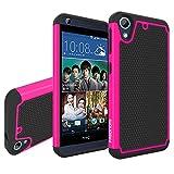 HTC Desire 626 / 626G Hülle, Pasonomi® Dual Layer Rugged Armor stoßfest Handy Schutzhülle Silikon Tasche für HTC Desire 626 / 626G (Hot Pink)