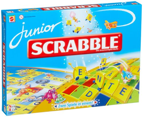 Mattel 51928-0 - Scrabble Junior, Brettspiel