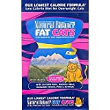 Natural Balance Fat Cats Chicken & Salmon Formula Low Calorie Dry Cat Food, 15-lb bag