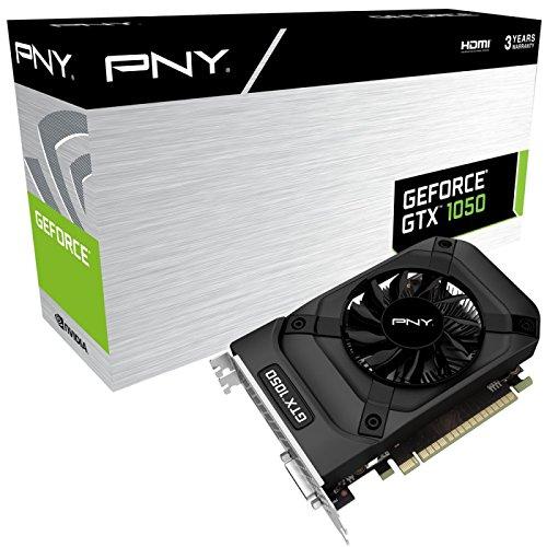 PNY GF1050GTX2GEPB Scheda Grafica Nvidia GeForce GTX1050, 2 GB GDDR5, Nero