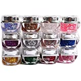 12 Color Glitter UV Gel Nail Art With UV Lamp Gel Decoration For Acrylic UV Gel