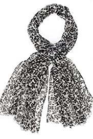 Lightweight Floral & Skull Print Scarf [T01-5620-S]