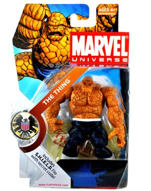 Marvel Universe 3 3/4 Inch Series 3 Action Figure #19 Thing Dark Pants White Belt