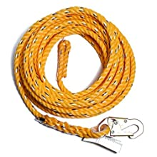 Guardian Fall Protection 01330 VL58-25 Standard 5/8 Inch Thick Rope with Snaphook End, 25-Foot