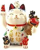 Feng Shui Maneki Neko Lucky Cat Coin Bank for Wealth