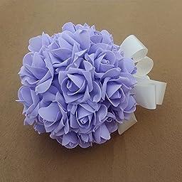 33pcs Handmade PE Roses Toss Bouquet Bridal Wedding Supplies