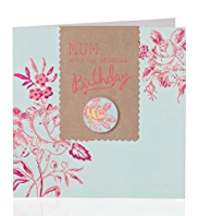 Special Floral Mum Birthday Card