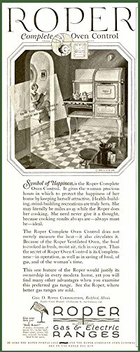 Super 1926 Ad For Roper Gas & Electric Ranges & Ovens Original Paper Ephemera Authentic Vintage Print Magazine Ad / Article