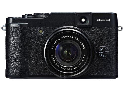 FUJIFILM デジタルカメラ X20B ブラック 1200万画素 2/3型EXR-CMOSII F2.0-2.8 広角25mm光学4倍ズーム F FX-X20B
