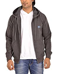 Hiver Men's Fleece Sweater (HIVER-D-GREY- 02-XX-Large, Grey, XX-Large)