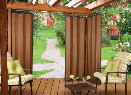 Bamboo Ring Top Curtain Brp12 40-Inch L X 84-Inch H Indoor/Outdoor Panel, Espresso Brown front-435939