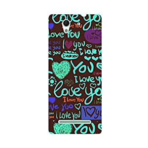 Skintice Designer Back Cover with direct 3D sublimation printing for Sony Xperia C3