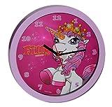 Wanduhr Filly Pferd - rosa 30 cm groß Uhr Kinderzimmer Kinderuhr Deko analog Einhorn Magic Pferde rosa Mädchen hergestellt von Kinderland