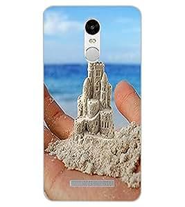 ColourCraft Sand Castle on Palm Design Back Case Cover for XIAOMI REDMI NOTE 3