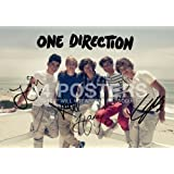 One Direction Poster Photo Signed PP x5 Niall Harry Zayn Louis Liam A4 Size 21x29.7cm