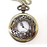 (よんピース)4 piece 懐中時計 不思議の国のアリス風 ペンダント ネックレス KH0020