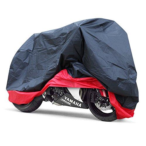 GHB-XXL-Coprimoto-Telo-Motociclo-Copri-Scooter-Impermeabile-Antipolvere-Anti-UV-Traspirante-Universale-265-x-105-x-125-cm-Nero-Rosso