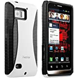 Insten Hybrid Case Compatible with Motorola Droid Bionic XT875, Black TPU / White Hard