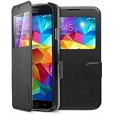 Spigen Case Flip View (Metallic Black) for Galaxy S5 (SGP10842)
