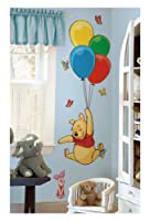RoomMates RMK1499GM Pooh and Piglet Peel and Stick Giant Wall Decal from RoomMates