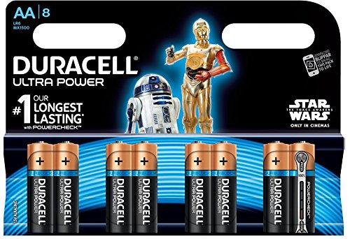 Duracell - Pile Alcaline - AA x 8 - Ultra Power (LR6)