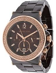 Michael Kors MK5518 Runway Chocolate Ceramic Espresso Chrono Watch