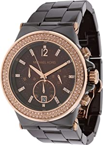 Michael Kors MK5518 Dylan Chocolate Ceramic Espresso Chrono Watch