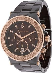 Michael Kors MK5518 Dylan Chocolate Ceramic Espresso Chrono Watch