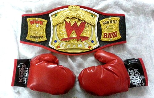 Sunshine WWE Championship Belt and Boxing Gloves Combo with Lighting Effect