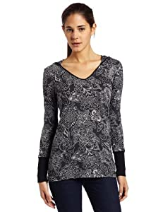 prAna Women's Julz Hoodie Top, Black, X-Small