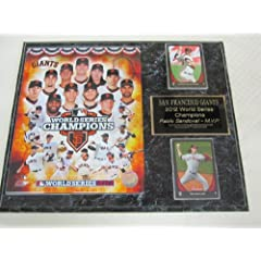 2012 San Francisco Giants World Series Champions 2 Card Collector Plaque w 8x10 Photo by J & C Baseball Clubhouse