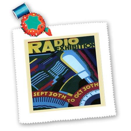 Qs_173845_4 Florene - Vintage Music - Image Of Art Deco Radio Ad - Quilt Squares - 12X12 Inch Quilt Square