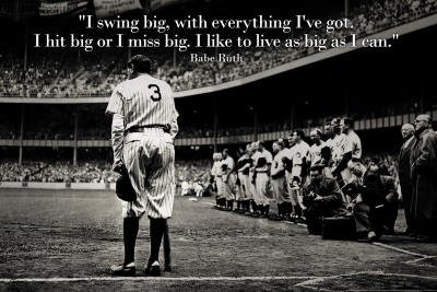 (13x19) Babe Ruth Swing Big