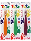 RADIUS Totz Toothbrush, Assorted, 18 months and up, Extra Soft (3 Pack)