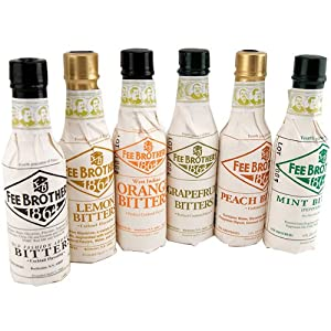 Fee Brothers Bar Cocktail Bitters - Set of 6