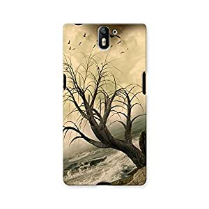 ArtzFolio Lonely Tree In The Ocean With Rocks : OnePlus One Matte Polycarbonate ORIGINAL BRANDED Mobile Cell Phone Protective BACK CASE COVER Protector : BEST DESIGNER Hard Shockproof Scratch-Proof Accessories