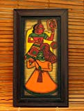 "The India Craft House Veneer Ply Board Contemporary Art Phad Painting - 13.5"" x 8"""