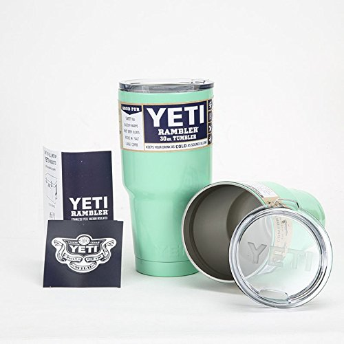 ENJOY LIFE : Yeti Coolers Rambler Tumbler Stainless Steel 30 oz Vehicle Coffee Beer Part 2 (Turquoise)