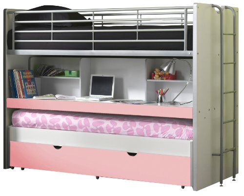 Vipack Lit mezzanine Bonny 80 - rose