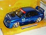 Subaru impreza Wrx Sti Blau Limousine 1/24 Jada Modellauto Modell Auto SondeRangebot
