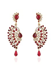I Jewels Tradtional Gold Plated Elegantly Handcrafted Pair Of Fashion Earrings For Women. - B00N7IO9TK
