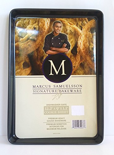 Celebrity Chef Marcus Samuelsson Signature Bakeware Cookie Sheet Baking Tray, 12.2 x 9 x 1.1 inches
