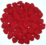 Scott's Cakes 1 lb. Red Raspberry Hearts in a Red Foil with White Snowflakes Tray with Blue Krinkle